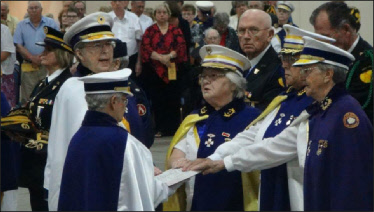Lady Carol Schoolcraft (WV) sworn in as the First Vice President of the International Association of Ladies Auxiliaries Patriarchs Militant.